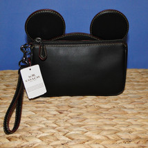 NWT DISNEY X COACH WRISTLET IN GLOVE CALF LEATHER WITH MICKEY EARS - ₨9,689.56 INR
