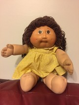 Vintage 1978-1982 CABBAGE PATCH Doll Brunette DIMPLE Girl Original Xavie... - $92.53