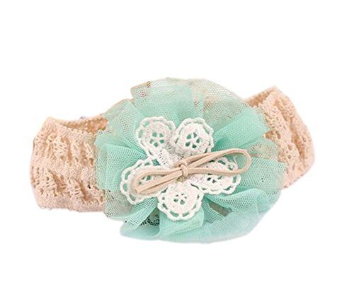 Beautiful Green Bow Girl Headdress Lace Headband Baby Accessories
