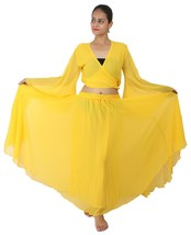 YELLOW Halloween Belly Dance Costume Set for Gypsy Tribal ATS Dance (Ski... - $23.76