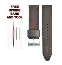 Fossil JR1339 22mm Brown Leather Watch Strap Band FSL109 - $28.71