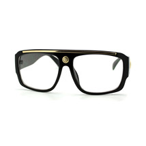 Clear Lens Eyeglasses Square Flat Top Designer Fashion Glasses - $7.95