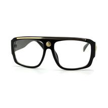 Clear Lens Eyeglasses Square Flat Top Designer Fashion Glasses - $7.15