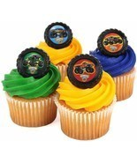 MONSTER JAM TRUCKS Cupcake Cake 18 PCS Decoration Party Supplies TOPPERS... - $9.85