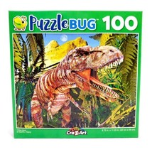 100 Piece Jigsaw Puzzle Puzzlebug 9 in. x 11 in., T-Rex Hunt - $4.74