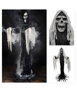 Halloween Reaper Spooky Prop Decoration Black Ghost Life Size Party Hous... - $79.98