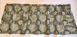 "Gold and Teal Green Paisley Window Curtain Valance 43""W x 15""L - $13.85"