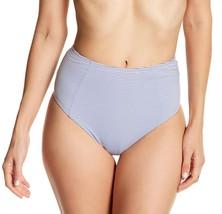 New with Tag - $95 Onia Leah Textured Stripe Cobalt/White Bikini Bottom Size L - $18.80