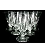 Set of 6 Bar Glasses, 8 oz. Footed Stemware for Wine, Cocktails, Juices,... - $24.45