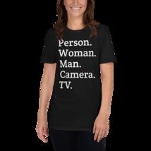 person woman man camera tv / person woman man camera tv T-Shirt image 5