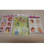 NEW Lot Disney Princess Hallmark stickers tattoos pop-up scene All Girls... - $4.94