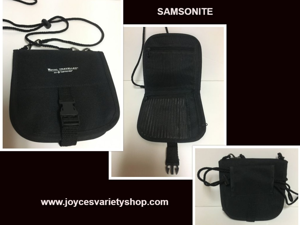 "Royal Traveller Samsonite Cross Body Travel Pouch 4 Pockets 28"" Adjustable Cord"