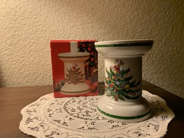 "Mikasa #HP306 Christmas Treats 5"" Pillar Candle Holder (NIB) - $25.00"