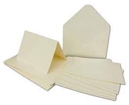 100 x Doppelkarten – Umschlag - Set DIN A6/C6 - Creme-weiß – Karte DIN A... - $48.03