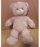 "BUILD A BEAR purple sparkle I CARLY TEDDY BEAR 17"" plush stuffed animal toy - $16.45"
