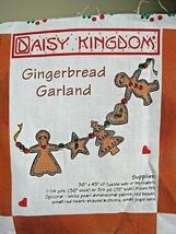 1997 Daisy Kingdom #3153 Gingerbread Garland Recipes Fabric Panel Christmas T44 - $18.32