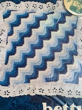 "Betty's Bargello Pillow 10"" Needlepoint Kit Blue Pattern NOS Waves Scallop - $18.99"