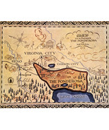 Bonanza 16x20 Canvas The Ponderosa Lake Tahoe Reno Map Nevada State Classic Tv - $59.99