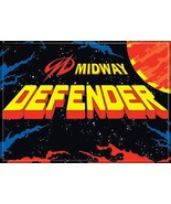 Midway Arcade Game Defender Classic Name Logo Refrigerator Magnet NEW UN... - $3.99