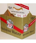 Vintage soda pop bottle carton CANADA DRY QUININE WATER new old stock n-... - $9.99