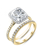 14K Yellow Gold Finish 925 Silver Diamond Engagement Ring Womens Bridal ... - $84.99