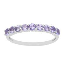 Tanzanite Half Eternity 925 Sterling silver Stacking Wedding Band Ring S... - $16.43