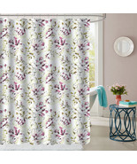 "Dolce Sage/Purple Floral Pattern Fabric Bathroom Shower Curtain 70""x72"" - $15.29"