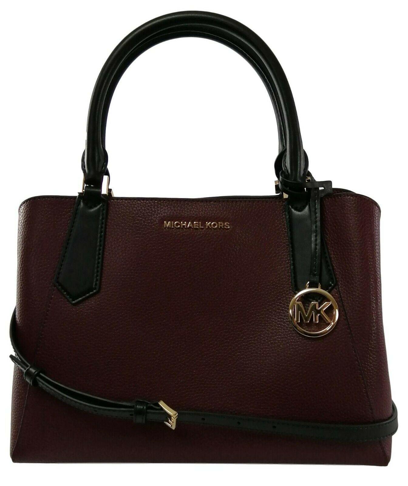 Michael Kors Cartella Top Manico Merlot pelle Rossa Kimberly Bag