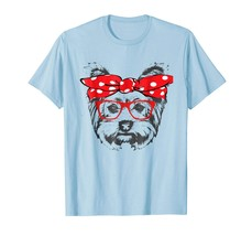 Dog Fashion - Bandana & Glass Yorkshire Terrier Mom Gift T Shirt Men - $19.95+