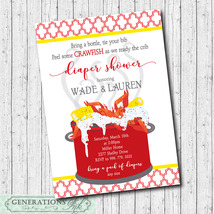 Crawfish Boil Invitation/Diaper Shower,/Seafood Boil/printable/digital file - $14.99