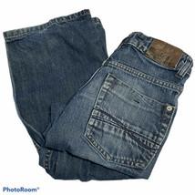 "Lee Dungarees Relaxed Straight Leg Adjustable Waist Boys J EAN S Size 12 Slim X26"" - $14.03"