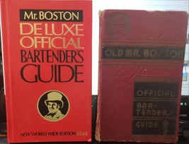 Lot of 2 Vintage Old Mr Boston Deluxe Official Bartenders Guide, 1979 an... - $19.55
