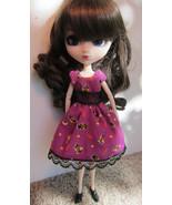 Halloween Witch Pumpkin Pullip Momoko Jenny doll size hand made dress OOAK - $19.97