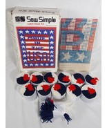 """Sew Simple P242 Made in USA Latch Hook Kit Rug or Wall Hanging 27""""x20"""" V... - $29.69"""