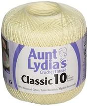 Coats Crochet Aunt Lydia's Crochet, Cotton Classic Size 10, Cream - $6.09