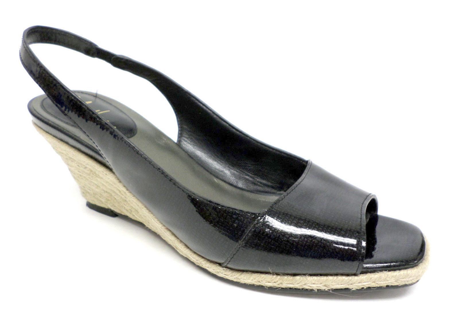 COLE HAAN Black Patent Pumps Size 8.5 Shoes Slingbacks Air 8 1/2 - $33.00