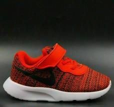 Nike Boys Sneakers Tanjun TDV Size US 5C University Red Black-White 8183... - $49.27
