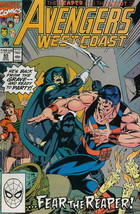 Avengers West Coast #65 VG; Marvel | low grade comic - save on shipping ... - $1.95