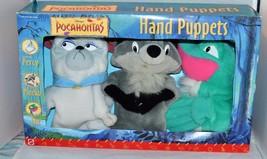 "Disney Pocahontas Plush 9"" Hand Puppets 3 Piece Gift set - Percy, Meeko,... - $39.99"
