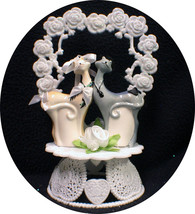 Kitty Cats Topper Top Wedding Pet Birthday Shower Groom engagement  cent... - $44.00