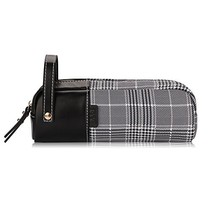 FYY Large Capacity Premium Leather and Canvas Pencil Bag Pouch Pen Case ... - $12.18