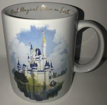 Disney Most Magical Place on Earth Ceramic Coffee Mug Walt Disney World White - $18.49