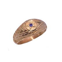 Amethyst Evil Eye Repel Bad Luck Positive Energy ring Pentagram Rose Gol... - $33.80