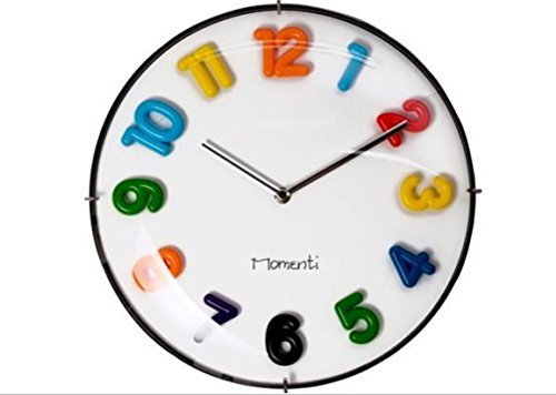 Momenti - Rainbow Jelly Wall Clock, Battery Operated 12.6 Inch Kids Room Interio