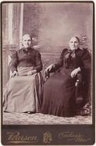 Mrs. Spearin (Perkins Family) & Mrs. Elen Brown Cabinet Photo - Calais, ... - $17.50