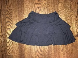! Xhilaration solid black tiered skirt size small 6 - 6x girls - $4.02
