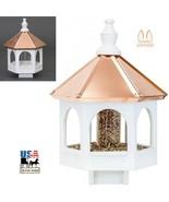 "20"" COPPER TOP BIRD SEED FEEDER - Amish Handmade 14"" Round Post Mount Ga... - $156.77"