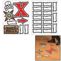 """Pirate Map Floor Decals (25 Pieces) 6"""" - 10"""" x 2"""" - 10"""" - $13.29"""