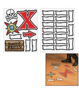 "Pirate Map Floor Decals (25 Pieces) 6"" - 10"" x 2"" - 10"" - $13.29"