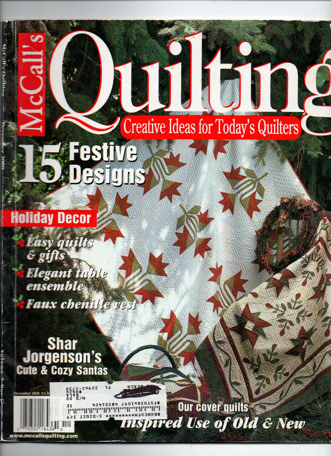 Primary image for Dec 2000/McCall's Quilting/Preowned Craft Magazine